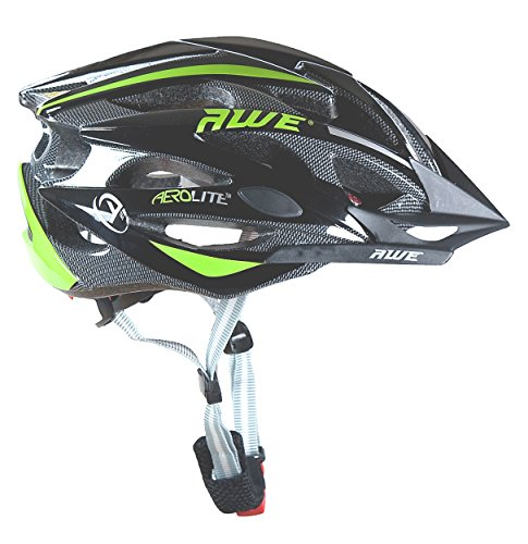 Vendita: Casco Bicicletta Adulto  Awe 56-58cm Nero/verde: proteggi sempre la tua  testa