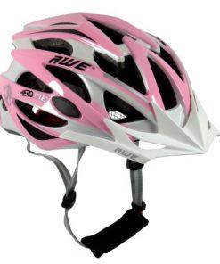 Awe-Casco da bicicletta per donna Rosa/Bianco