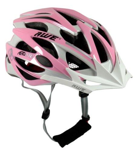 vendita casco da bicicletta per donna awe rosa bianco fascino e sicurezza per ogni donna. Black Bedroom Furniture Sets. Home Design Ideas