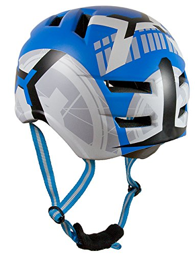 AWE® X-FireTM Skate in bicicletta BMX casco blu 55-58cm