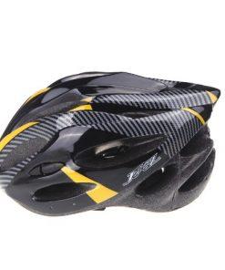 Andoer Casco da bicicletta sicurezza sport della bici con visiera - Integrated Mountain Bike Bicycle Riding Helmet - Vents carbonio Fibra per Casco Bici Adulto Uomini 57- 62cm (Giallo)