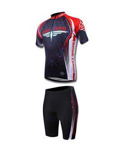BaseCamp Maglia da bicicletta + Pantaloncini corti imbottito in Gel per Ciclismo, con Coolmax