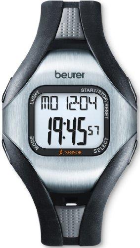 Beurer PM 18 Cardiofrequenzimetro da Polso Senza Fascia, con Sensore di Attività, Nero