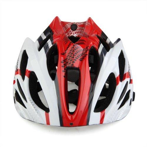 CARCHET® Casco Bici MTB Ciclismo Adulto Regolabile Prof Rosso L con Visiera Regolatore