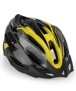 Casco Bici MTB Ciclismo Adulto Regolabile Nero Giallo con Visiera Regolatore