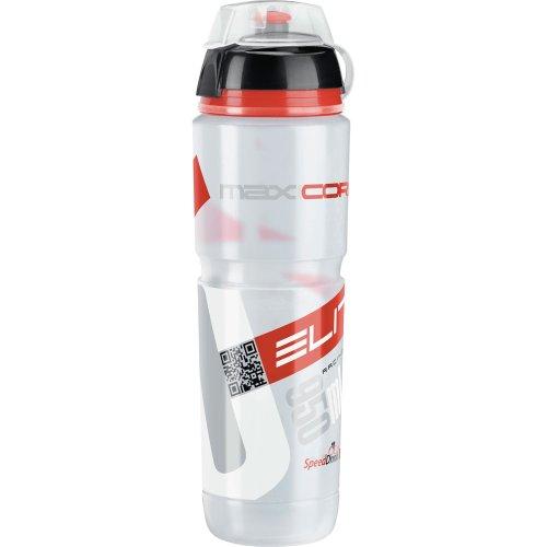 """Elite FA003514224 - Borraccia """"Supercorsa MTB"""", 1 l, colore: Trasparente/Rosso"""
