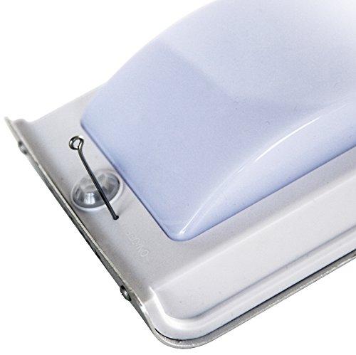 Frostfire - Luce con sensore di movimento, 16 LED brillanti, alimentazione solare senza fili, impermeabile e senza batterie