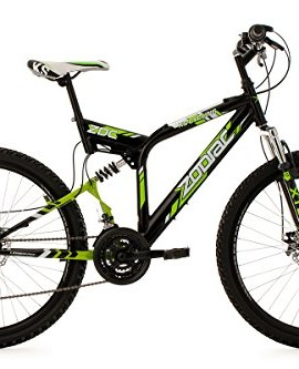 Mountainbike-Fully-26-Zodiac-nero-verde-freno-a-disco-mec-48-cm-KS-Cycling-0