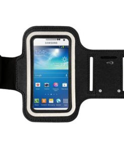 Nero Sports braccioli per bicicletta da corsa Palestra fascia da braccio per Samsung Galaxy S3 SIII S4 Ace2 iPhone 3 G 3GS 4 4S 5, HTC One Blackberry e per smartphone - con per fare braccio (Nero)