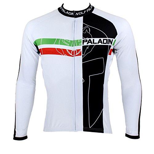 Paladin Sportswear Abbigliamento bici Uomo Primavera Estate Autunno Stile 100% poliestere Maniche lunghe Outdoor Cycling Jersey vestiti traspiranti