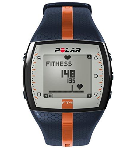 Polar FT4 Cardiofrequenzimetro, Blu/Arancio