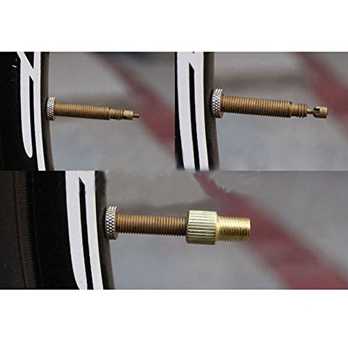 SODIAL (R) 3pcs Brass Presta a pompa Schrader Valve Adattatore per bicicletta