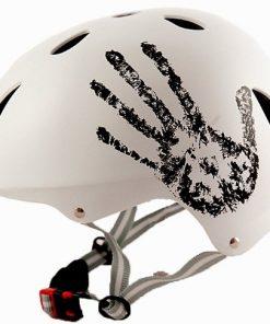 "Sport DirectTM bicicletta BMX / Skateboard ""La Mano"" Casco Ciclo Bianco 57-5"