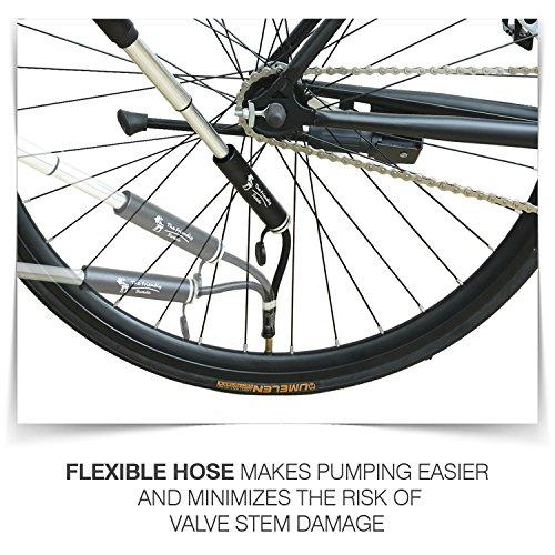 The Friendly Swede - Mini Pompa per Bicicletta in Lega di Alluminio, Colore Nero