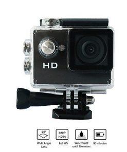 "Yuntab Sport Action Kamera Full HD 720P Wasserdicht LCD da 2,0 ""a 120 ° Objektiv DVR azione esterna Cam Helmkamera für Mountain Paintball Motorrad Pattinaggio Tauchen Schwarz"