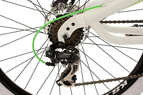 "Ks Cycling - Mountainbike Mtb Fully 26"""" Topspin Bianco Verde 51 Cm"