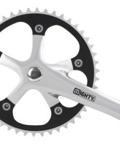 Mighty, Guarnitura Alu- Single Speed, Argento (silber)