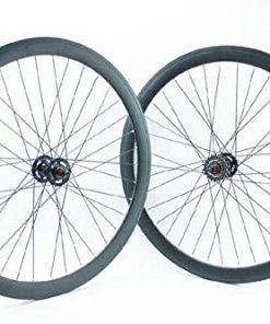 RIDEWILL BIKE Coppia ruote scatto fisso pista profilo 43mm colore nero opaco (Scatto Fisso) / Pair of single speed wheels height of the rim 43mm black (Fixed Wheel)