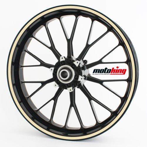 """Adesivi per bordi dei cerchi Motoking 360° / intero cerchio / da 15"""" a 18"""" / colore e larghezza a scelta"""